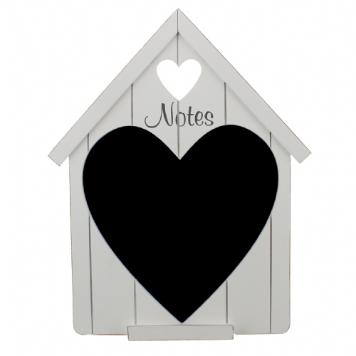 Shabby Chic Wooden Heart Chalk Board Country Living Home Decor Accessory
